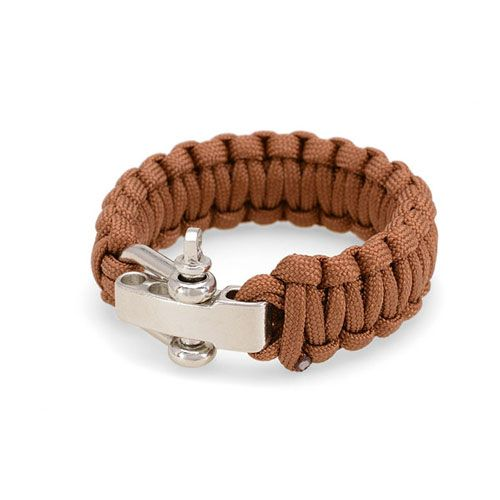 Heren koord armband model Brown