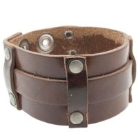 Leren heren armband model Flow