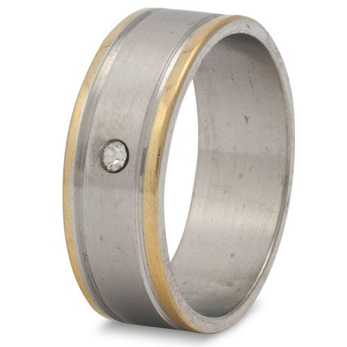 Stalen heren ring model Swiss